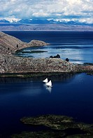 Suriqui Island, Lake Titicaca, Andes, Bolivia.
