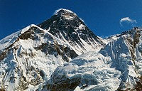 The summit of Mount Everest (8848 metres), The Himalayas, Nepal.