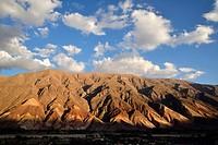 Argentina, Province of Ju Juy, Quebrada de Humahuaca on the world heritage list of UNESCO, Maimara, landscape.