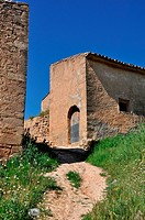 Ancient farm in spring, Calaceite, Matarraña region, Teruel, Aragon Community, Spain