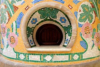 Architectural detail of Palace of Catalan Music in Barcelona. Spain