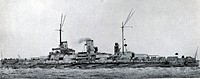 German battleship 'Nassau' in commission with the Imperial German Navy 1909-1919. She was present at the Battle of Jutland. Nassau class ships were bu...