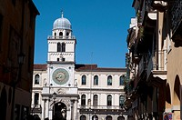 Italy, Veneto, Padua, Piazza dei Signori Square, Palazzo Del Capitanio, Astronomical Clock Tower.