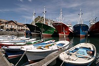 Fishing boats, Getaria Dock, Getaria, Gipuzkoa, Guipuzcoa, Basque Country, Spain