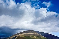 England, Cumbria, Lake District National Park. Blencathra, a mountain in the Northern Lake District near the town of Keswick also known as Saddleback.