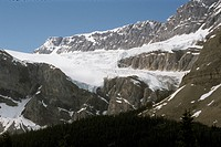 Crowfoot Glacier from Icefields Pkwy, Alberta, Canada