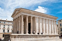 La Maison Carree, Roman Temple, Nimes, France.