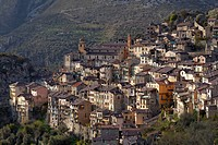 Mountain village of Saorge high above the Roya Valley