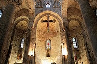 Italy, Sicily, Palermo, San Cataldo, church, interior,.