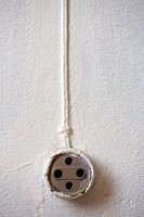 Detail of electric outlet.