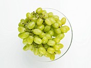 grape on glass dish