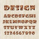 illustration of alphabet design fonts