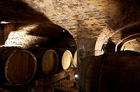 Wine cellars at Domaine Compte Senard in Aloxe-Corton.