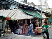 Old market at Sheung Shui, New Territories, Hong Kong