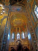 Frescoes and mosaics in the interior of the Church of the Savior on Spilled Blood, Church on Spilt Blood, Cathedral of the Resurrection of Christ, Sai...