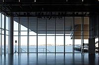 ICA _ THE INSTITUTE OF CONTEMPORARY ART, 100 NORTHERN AVENUE, BOSTON, USA, DILLER SCOFIDIO + RENFRO, INTERIOR, VIEW FROM THEATRE OF BOSTON HARBOUR.