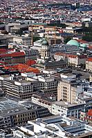 Aerial panoramic view, Berlin, Germany, Europe.