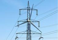 DEUTSCHLAND : Strommasten / Stromleitungen / Stromnetz / Strom / Elektrizitaet  GERMANY : Power lines / Currency / Electricity  07.11.2006   - Bornhei...