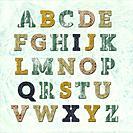 illustration design of alphabet