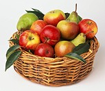 Wicker basket containing apples