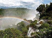 A rainbow over iguaza falls;Argentina
