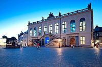 Germany, Saxony, Dresden, Neumarkt Square, Johanneum Palace, Transport Museum Dresden.