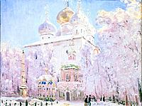 'Winter in the Trinity Sergius Lavra in Sergiev Posad', c1910. Found in the collection of the State Art Museum, Yaroslavl, Russia.