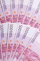 500 Euro bank notes - 01/01/2011