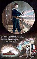 French WWI postcard, 1914-1918.