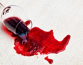 A glass of red wine was spilled on a carpet.¿Damage insurance.¿ - 01/01/2011