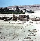 Remains of the Great Palace at Amarna, Egypt, 18th dynasty, 1346-1332 BC. View of the of the sunken garden of the northern section of the Harem Quarte...