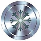 Snowflake industrial button