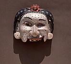 A half mask of a pock-marked servant woman, used in wayang wong perform-ances of the Hindu epics, especially the Ramayana. Country of Origin: Indonesi...