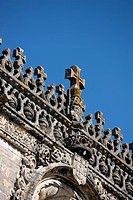 The Convent of the Knights of Christ, Tomar, Portugal, 2009. The Convent of the Knights of Christ in Tomar is a combination of a castle and a convent ...