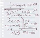 Algebra doodle background