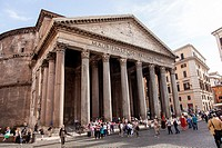 Pantheon is a building in Rome, Italy, commissioned by Marcus Agrippa during the reign of Augustus as a temple to all the gods of ancient Rome.