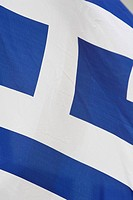 Close-up of the Greek flag