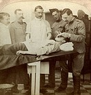 Soldier who fell at the front, Wynberg Hospital, Cape Town, South Africa, Boer War, 1899-1902. Stereoscopic card detail.