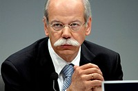 GERMANY, STUTTGART, 14.02.2008 Dieter ZETSCHE, CEO of Daimler AG at the press briefing on annual results 2008 in Stuttgart. - STUTTGART, BADEN-WUERTTE...
