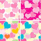 Hearts background tiled
