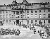 Queen Victoria's Diamond Jubilee Procession at Buckingham Palace, London, 1897.
