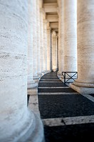 Saint Peter's Square. Colonnade. Vatican City. Rome. Italy.