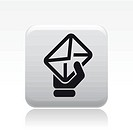 Vector illustration of isolated mail hand icon