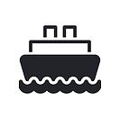 Vector illustration of isolated boat icon