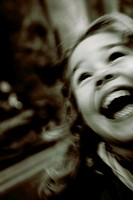 Young girl smiling very happy
