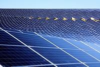 Gigantic solar farm in Provence , Les Mées , France.