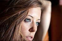 portrait of girl looking lost.