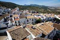 Rooftops in village of Zahara de la Sierra, Cadiz province, Spain