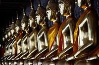 Golden Buddha at Wat Suthat temple in Bangkok.