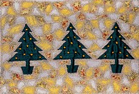 Three Christmas Trees (embroidery 6 x 9)